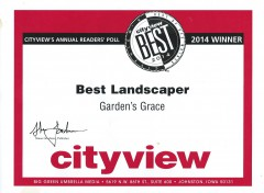 City View Best Landscaper Award